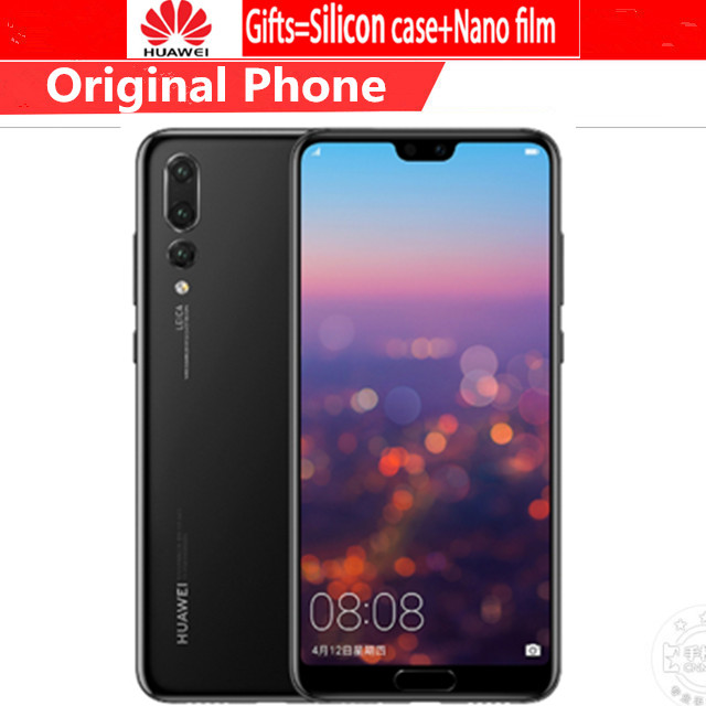Global Versie Huawei P20 Pro CLT-L29 6.1 Inch Kirin 970 IP67 Smartphone 6Gb Ram 128Gb Rom 40.0MP Android 8.1 Fast Charger Nfc