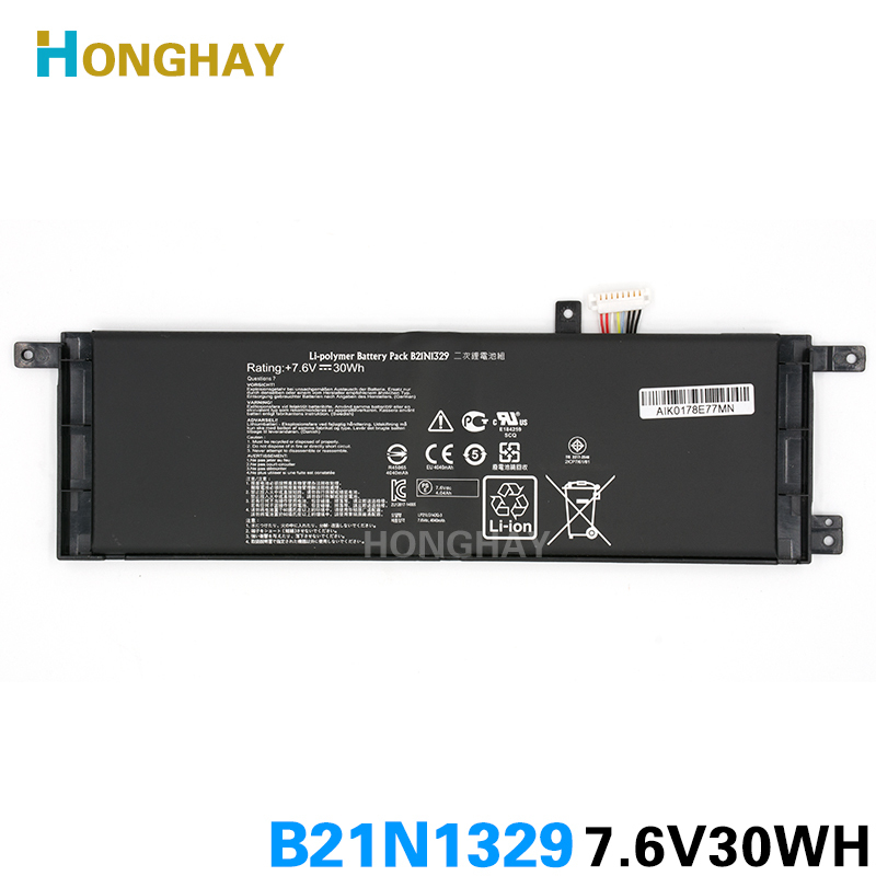 HONGHAY B21N1329 Original Laptop Battery for ASUS X453 X453MA X453MA-0122CN3530 X453MA-0132DN3530 X553 X553M X553MA X553MA-DB01 new laptop dc power jack socket for asus d553m f553ma x453ma x553 x553m x553ma series charging port connector