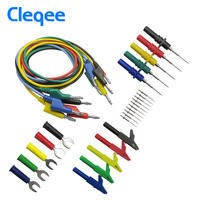 Cleqee P1036B 4mm Banana To Banana Plug Test Lead Kit For Multimeter Cable Match The Alligator