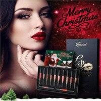 NICEFACE 12PCS/set Liquid Matte Lipstick Cosmetics Makeup Nude Lip Lipsticks Metallic Lip Gloss Stick Make up Lips Lipgloss