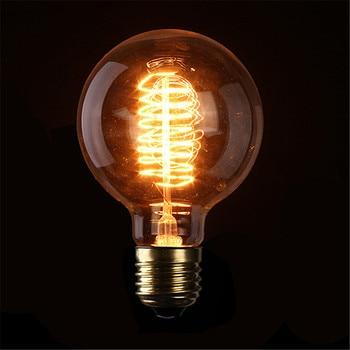 10pcs/lot 40W Edison Bulb 110V 220v Spherical light Incandescent filament Bulb Edison Light Incandescent Edison Bulb