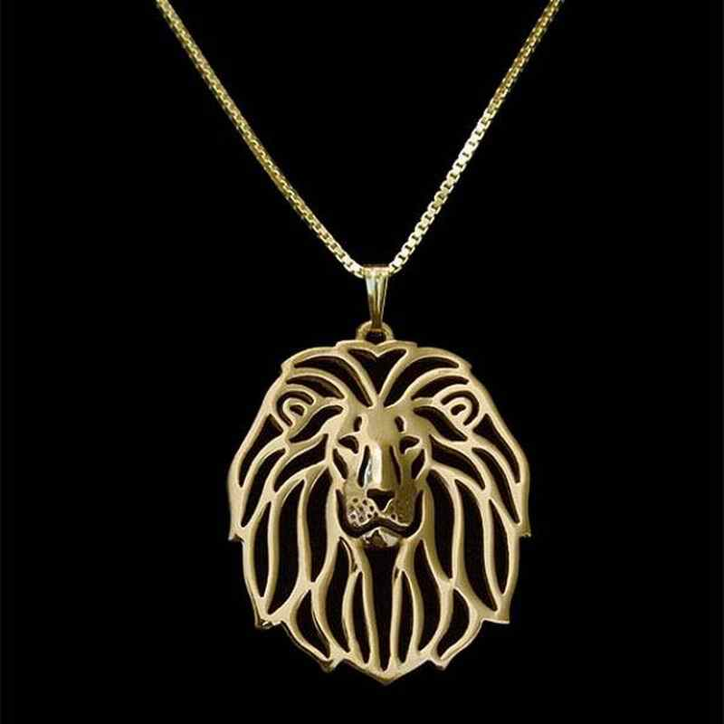2019 New Arrival Women's Hollow Out Lion Necklaces Jewelry Metal Animal Pendant Necklaces For Lovers Drop Shipping