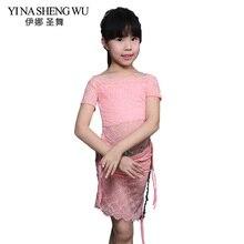 Belly Dance 2 Pcs Set (Top+Skirt) Newest Children's Suit Indian Dance Children Lace Costumes Belly Dance Practice Dance Clothing