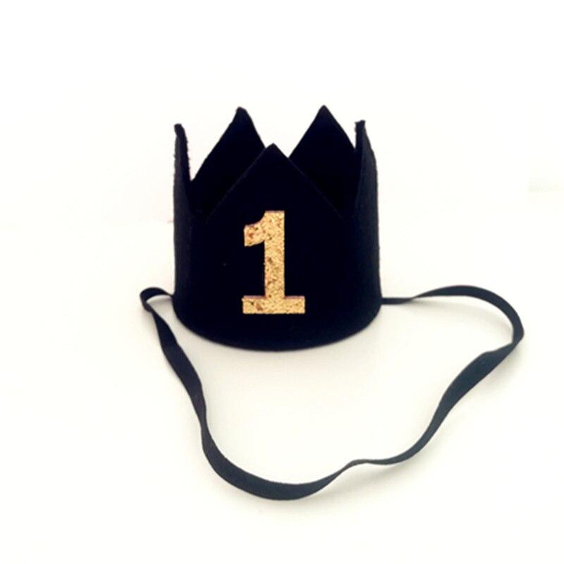 Niño Primer Cumpleaños negro fieltro corona bebé 1st 2nd 3rd cumpleaños  fiesta sombrero cumpleaños Smash pastel sombrero para niño foto Prop - Blog  Store 86ca97e6ba4
