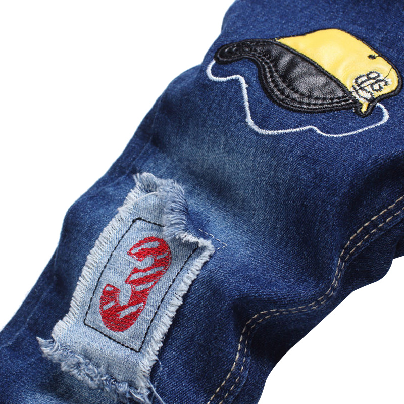 New Patch Boys Jeans Pants Spring Autumn Print Kids Jeans Trousers 2017 Baby Jeans With Embroidery Ripped Denim Trousers Baby (6)