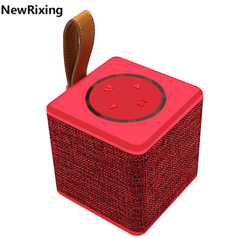 NewRixing NR 1016 Fabric art Portable Bluetooth Speaker 5W 3 Inch Horn Diaphragm Wireless Speakers Subwoofer