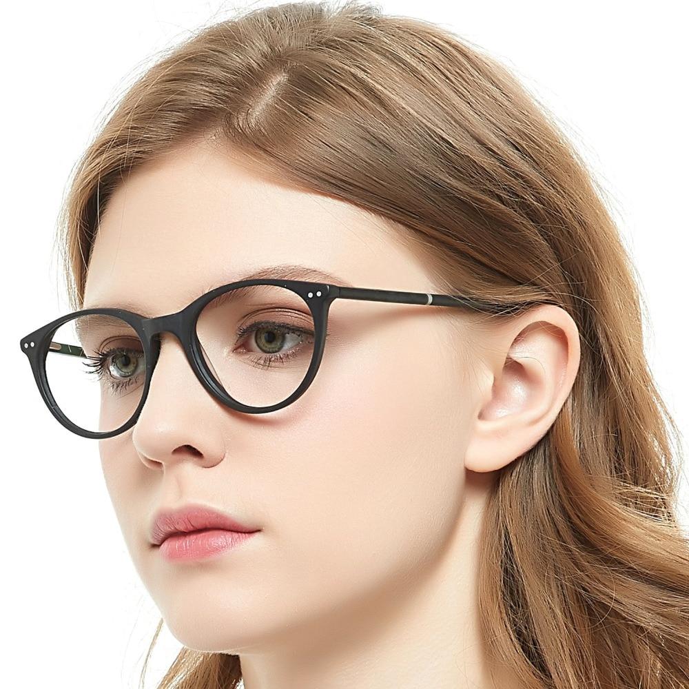 Brillenrahmen Methodisch Brillen Rahmen Frauen Transparent Runde Spektakel Myopie Optische Brillen Rahmen Schwarz Nerd Geschenk Stute Azzuro Oc7015