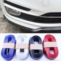 2.5m Car Carbon Fiber Front Bumper Protective Lip Splitter Chin Strip Universal