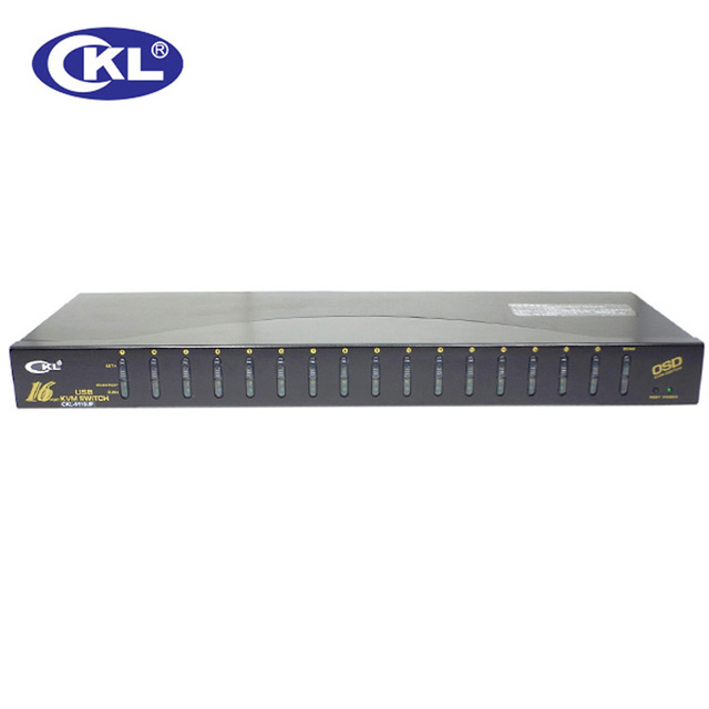 CKL-9116U 16 Portas USB 2.0 Kvm VGA Original Com Cabos de Vídeo Switcher para Teclado Mouse