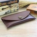Fashion simple genuine leather men women long wallet Thin section Phone card package Hand Wallets purse female Clutch envelopes