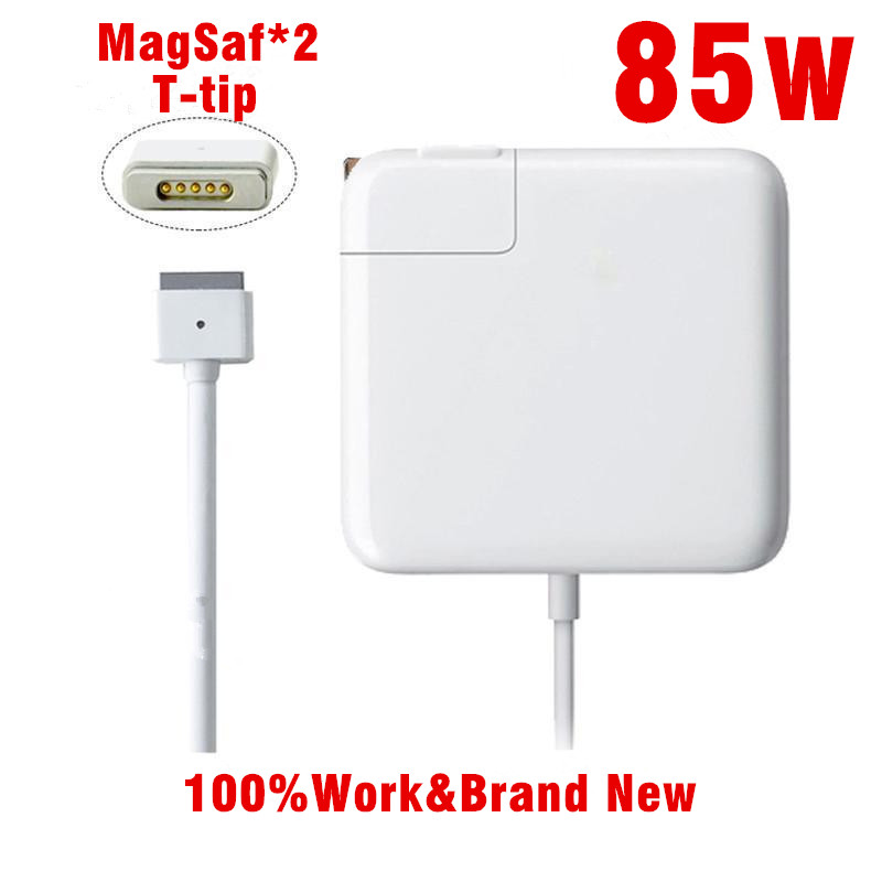 Replacement Magnetic T-tip 85W Laptop MagSaf* 2 Power Adapter Chargers For Apple MacBook Pro Retina 15'' 17'' A1398 A1424 недорго, оригинальная цена