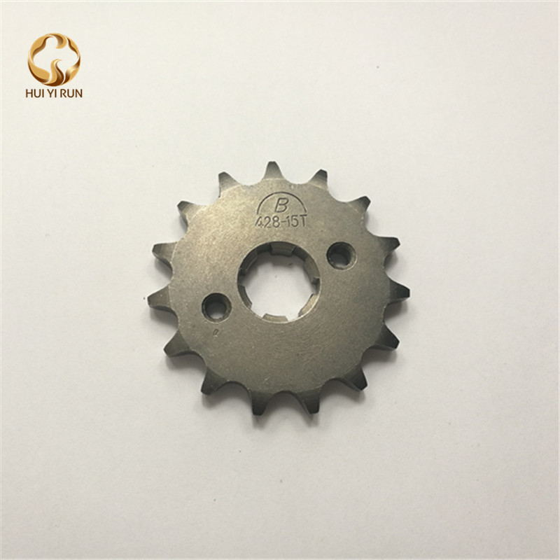 Front Engine Sprocket 428# 15Teeth 20mm For 428 Chain With Plate Locker Motorcycle Dirt Bike PitBike ATV Quad Parts image