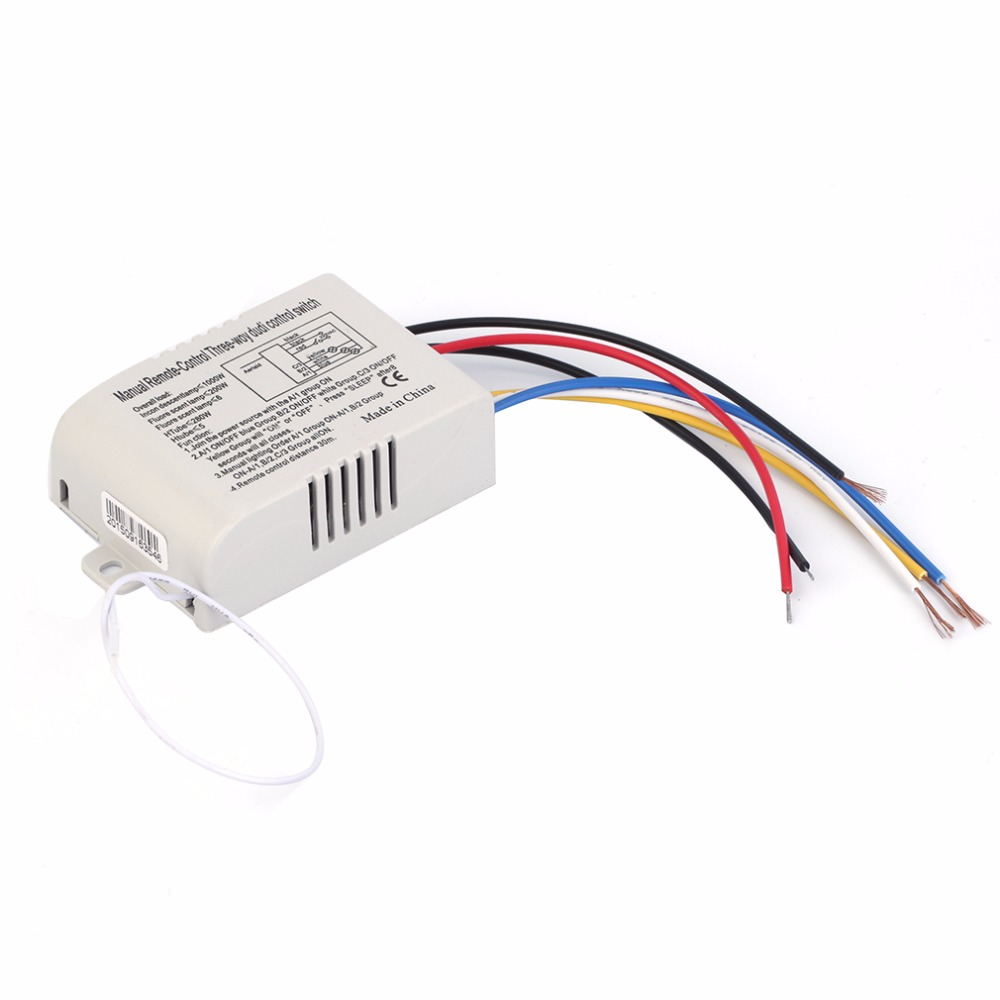 3 Way On Off Switcher Splitter Digital Rf Remote Control Wall Switch Wiring Wireless 220v For Light Lamp Anti Interference White In Rgb Controlers From Lights