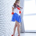 Free Shipping  Pretty Soldier Sailor Moon Cosplay Costume female halloween party dress