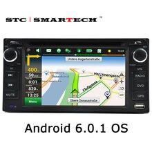 SMARTECH coche reproductor multimedia de navegación GPS 2din unidad principal reproductor de DVD del coche para TOYOTA Corolla Camry Rav4 Previa HILUX Prado