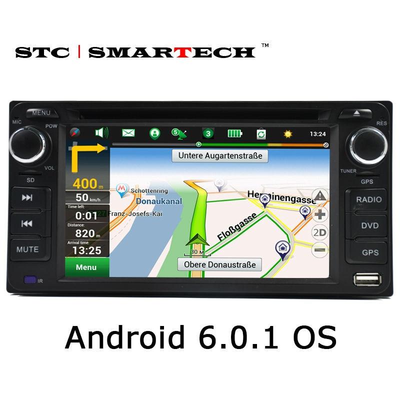 imágenes para SMARTECH coche reproductor multimedia de navegación GPS 2din unidad principal reproductor de DVD del coche para TOYOTA Corolla Camry Rav4 Previa HILUX Prado