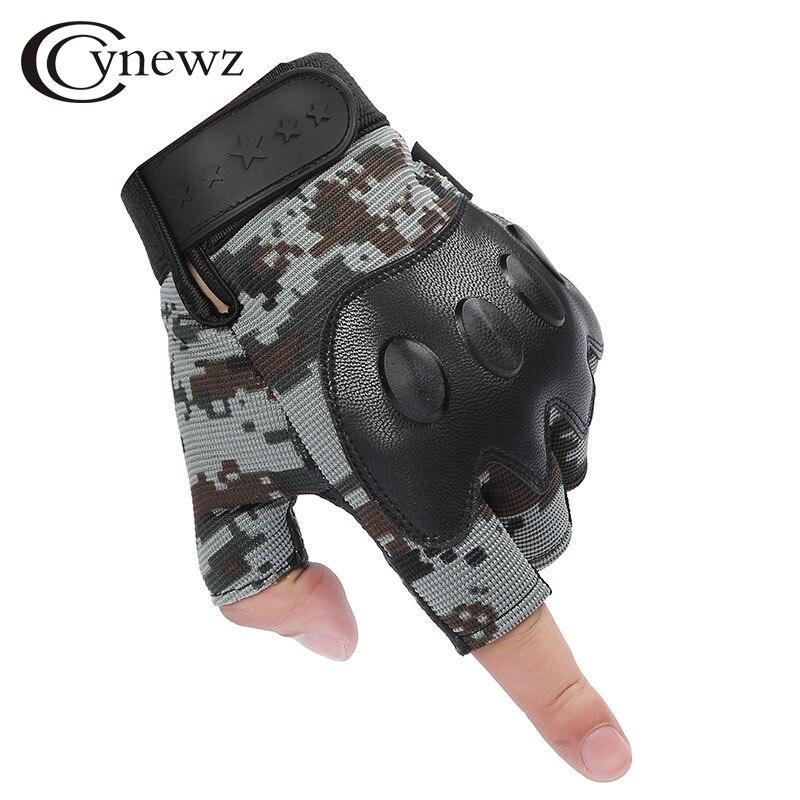 Fashion Men Women Tactical Gloves Half Fs