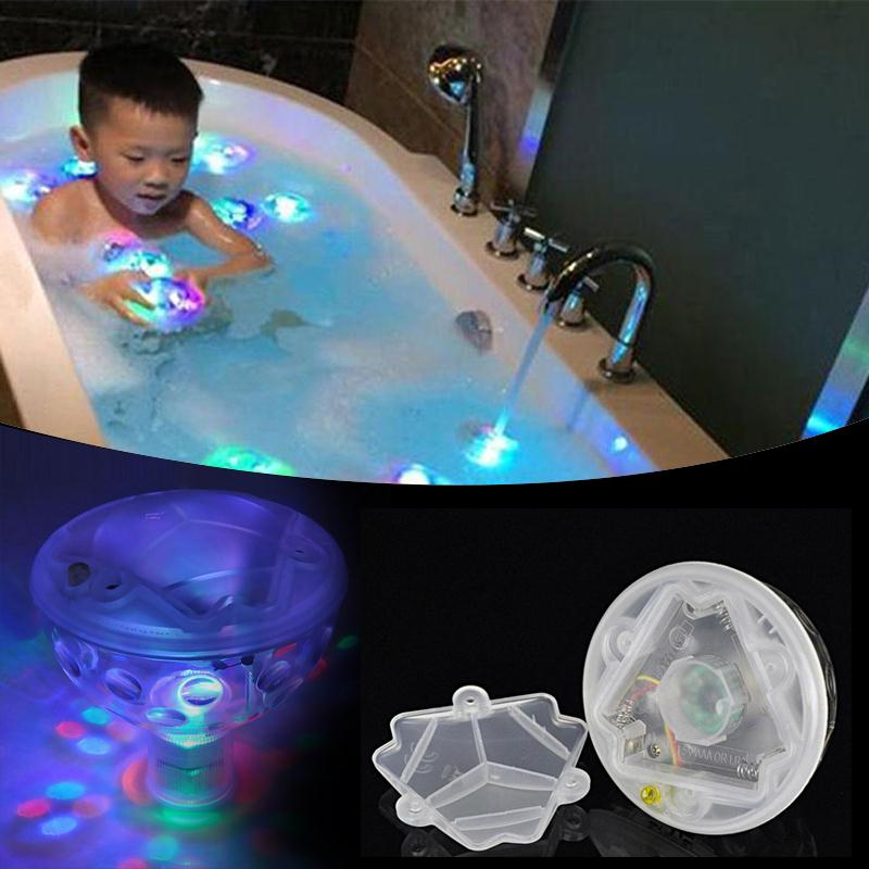 6 Leds Underwater LED Light Pond Swimming Pool Floating Lamp Bulb Babys Child Bath Shower Toys