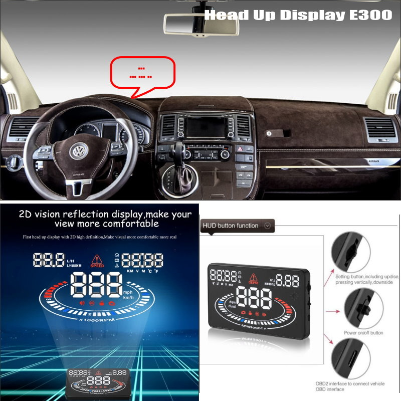 For Volkswagen VW Transporter T5 - Can increase security Projection to windshield cars HUD head up display screen projector ...