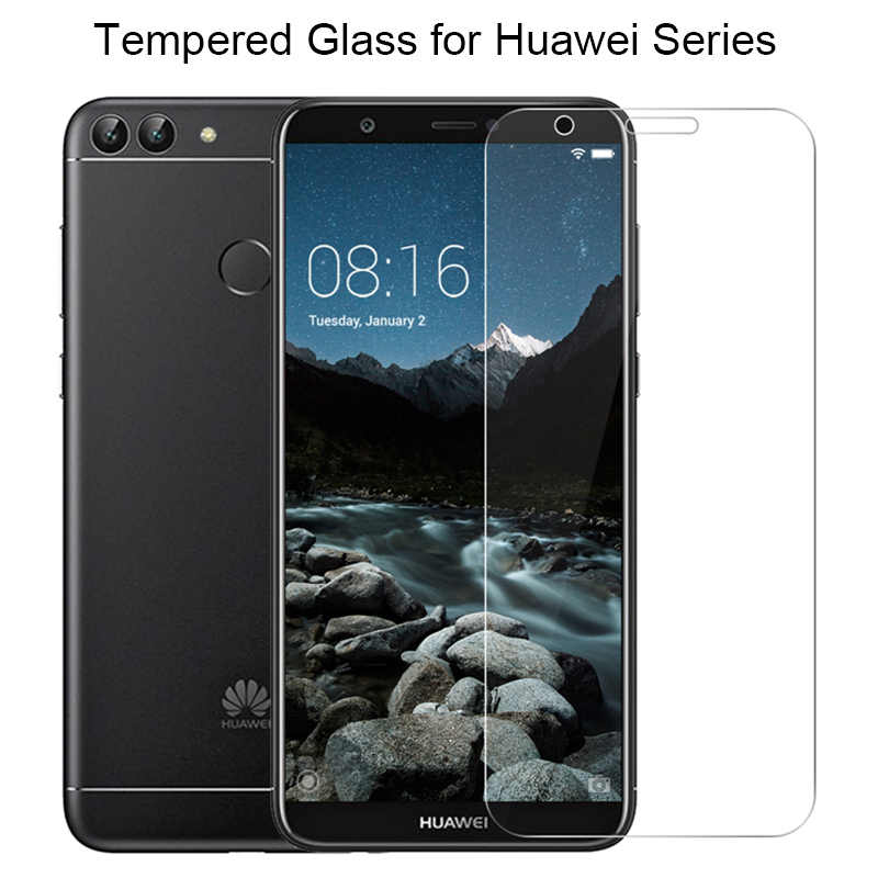 9H HD Tempered Glass for Huawei Y5 ii Y6 Pro 2017 Y3 2018 Y7 Prime Screen Glass for Huawei P Smart Plus Glass on Y6 ii Y3 ii