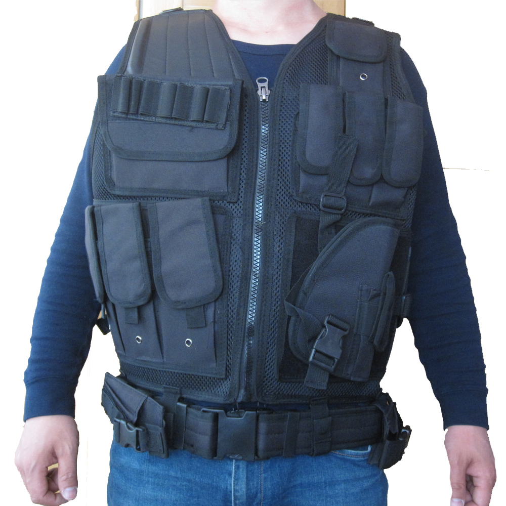 2018 New Colete Tatico Loja Artigos Militares Airsoft Tactical Vest Leapers Law Enforcement Molle SWAT Schutzweste 2 Color colete tatico balistico swatt paintball airsoft 15%off cs airsoft game tactical military combat traning protective security vest