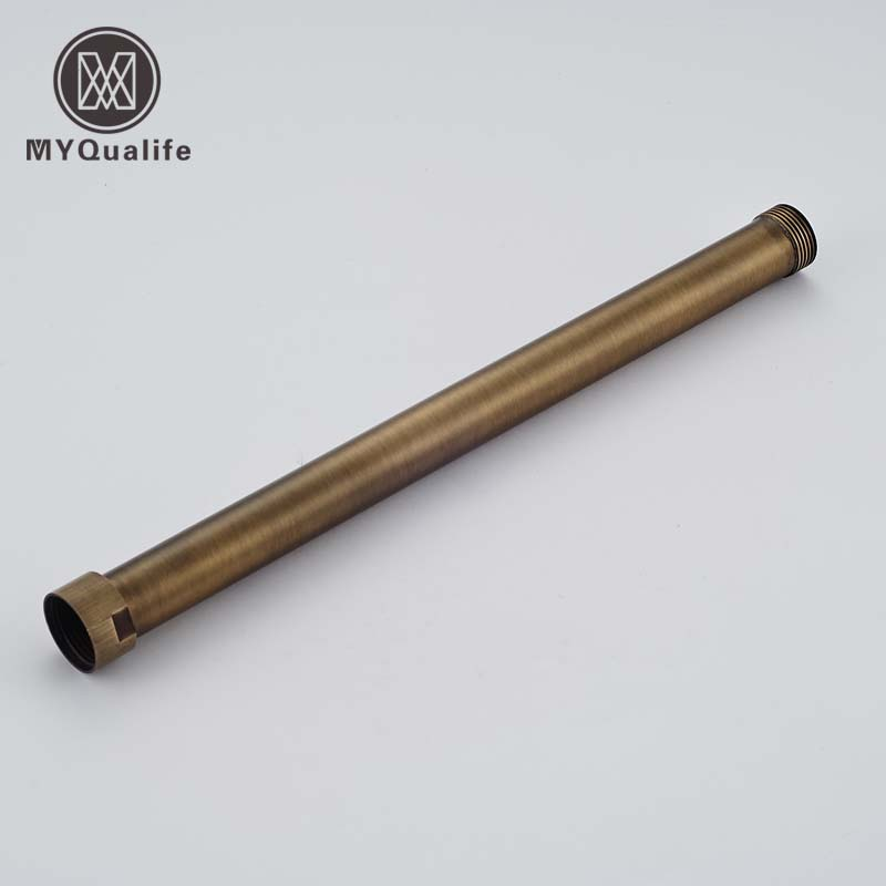 Antique Brass Bathroom Shower Faucet  Pipe Extension Tube 30cm long Heighten Pipe BarAntique Brass Bathroom Shower Faucet  Pipe Extension Tube 30cm long Heighten Pipe Bar