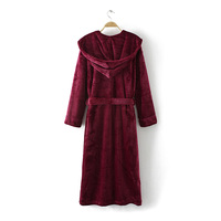 Winter robe for women Flannel long sleeves robe Lace robes
