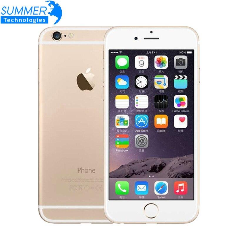 Original Unlocked Apple iPhone 6 Dual Core 1GB RAM 4.7 inch IOS 1.4GHz Phone 8.0 MP Camera 3G WCDMA 4G LTE 16/64/128GB ROM
