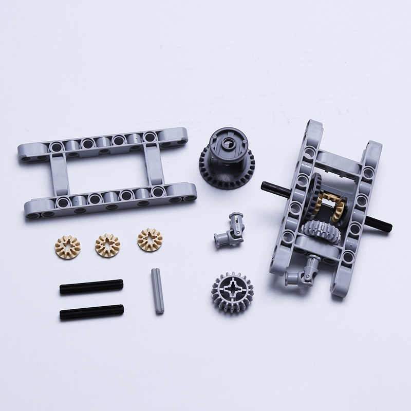 DECOOL Technic parts Technic FRAMED DIFFERENTIAL GEAR SET Pack Chassis Part Chassis Compatible legos technic MOC blocks parts