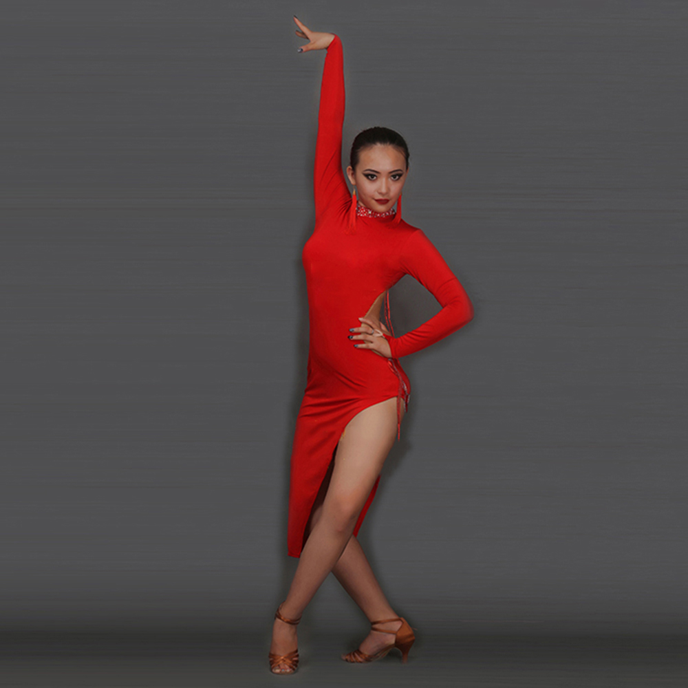 2019 New Latin Dance Dress Women Girls Regata Feminina Roupa De Ginastica Vestido De Baile Latino Dance Wear Dance Costume