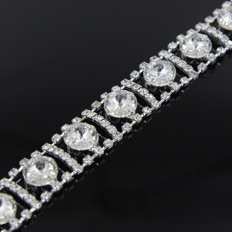 100Yards Crystal Chain Trim Sewing Rhinestone Trimming for Handmade Jewelry DIY Bags Clothes Shoes Dresses
