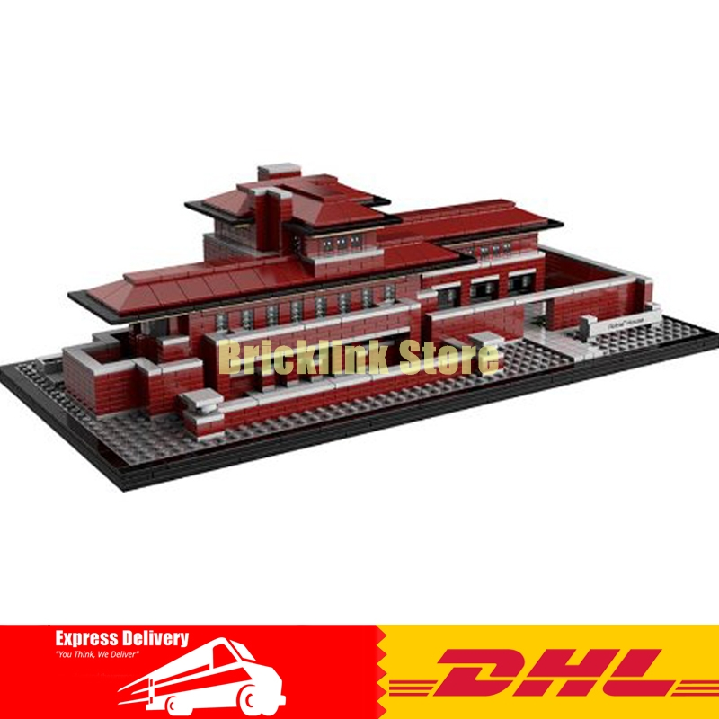 IN STOCK LEPIN 17007 2326Pcs Genuine Architecture Series The Robie House Set Educational Building Blocks Bricks Toys Model 21010 loz mini diamond block world famous architecture financial center swfc shangha china city nanoblock model brick educational toys