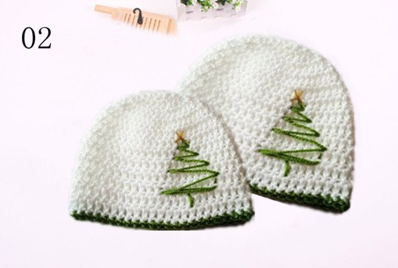 Hot Sale Baby White Crochet Christmas Tree Hat In Hats Caps From