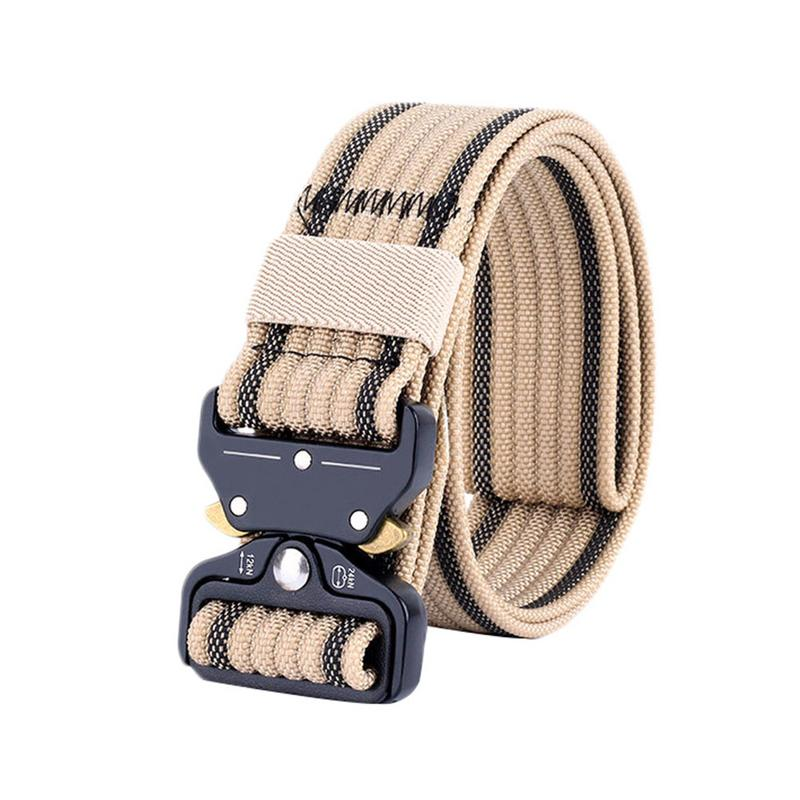 New Style Top-quality Tactical Military Belt Men's Outdoor Sports Belt Thick Tactical Belt Waist Support buckled belt detail plaid top