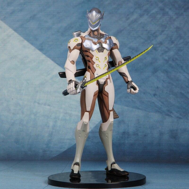 Anime Game OW Ninja Shimada Genji 18cm Joints Moveable Action Figure Model Toys