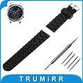 22mm caucho de silicona watch band + herramientas para samsung gear S3 Clásico/Frontier Resina Reemplazo de la Correa de Pulsera Pulsera de La Correa negro