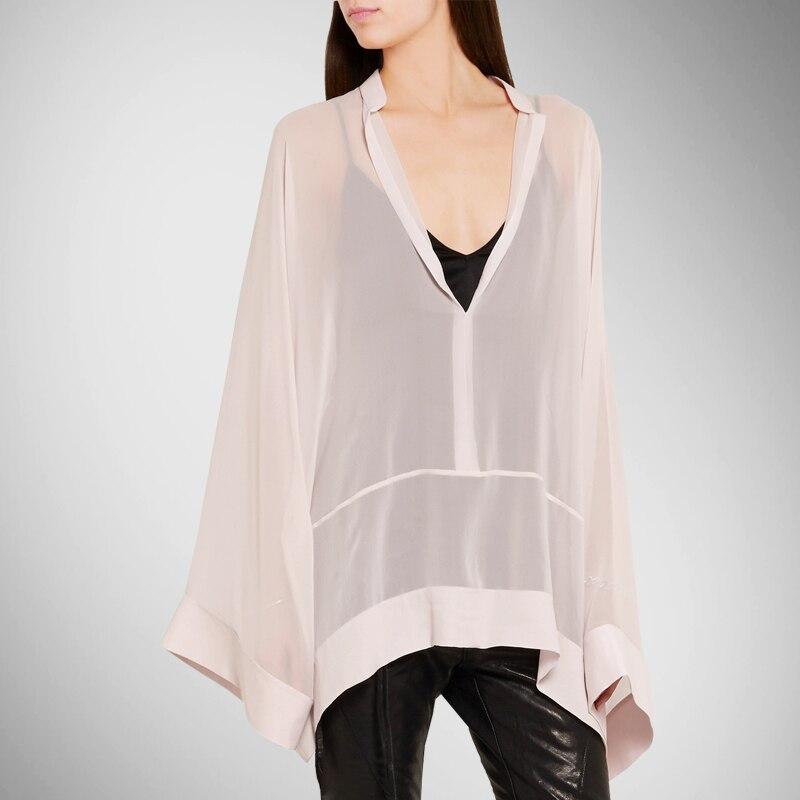Sale Rushed Body Silk Shirt Women Fashion Chiffon Blouses Oversized Bat Sleeve Large Loose Shirts Women's Clothing Tops