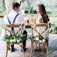 Mr & Mrs свадебный стул знаки цветочный обруч каллиграфия деревянный подвесной круг набор