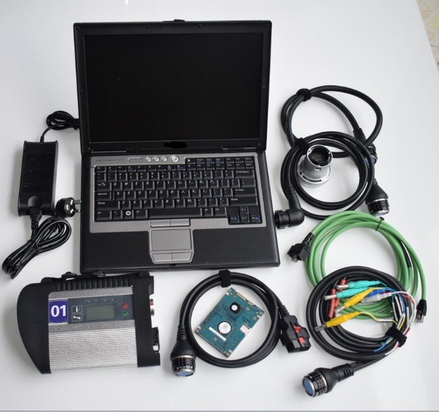 MB כוכב C4 עם מחשב נייד MB Sd חיבור קומפקטי 4 אבחון כלי עם תוכנת hdd ssd v2019.07 עבור dell d630 מחשב נייד מוכן לעבוד