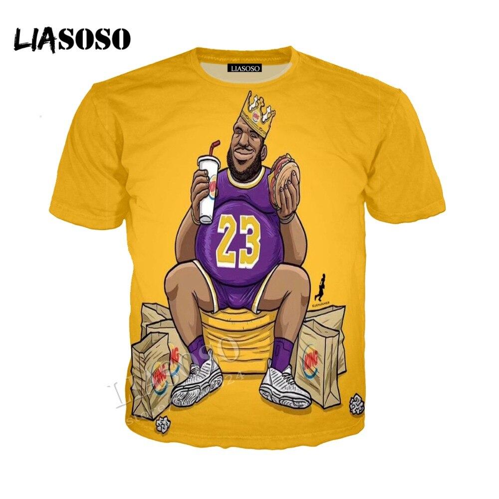 LIASOSO3D Print Comfort Polyester Top Basketball Star Cartoon King James Men Women Hoodie Minimalist Sportswear CX203