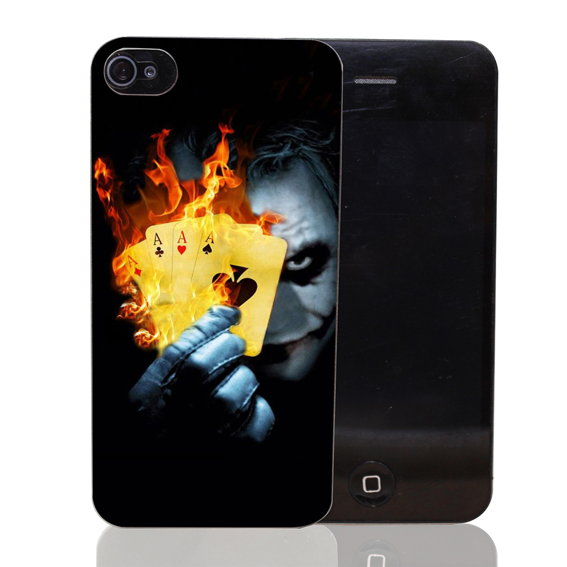 2723CA poker joker Hard Transparent Case Cover for iPhone 4 4s 5 5s 5c SE 6 6s Plus Thin Style