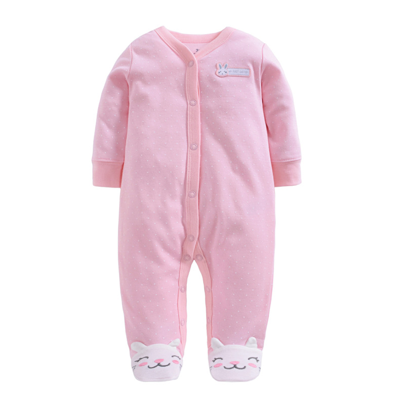 100 cotton Baby Jumpsuits Baby Clothes for Newborns Girls Baby Clothing Long Sleeve Baby 0 3 Months Winter Boy Rompers in Rompers from Mother Kids
