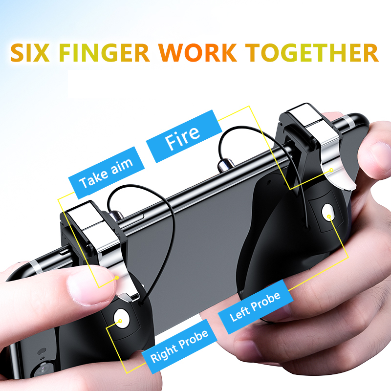 PUBG Mobile Game Controller Gamepad Trigger Aim Button L1R1 Shooter  Joystick For IPhone Android Phone Game Pad Accesorios