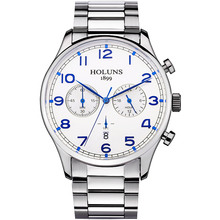 HOLUNS Marca Moda hombre Militar de acero inoxidable Completa Casual impermeable Reloj Deportivo relogio masculino Reloj de pulsera de cuarzo Venta