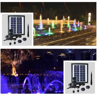 2018 Novelties Wholesale LED Lantern Solar Fountain Solar Garden Light Colorful Solar LED Light Outdoors Ship from EU