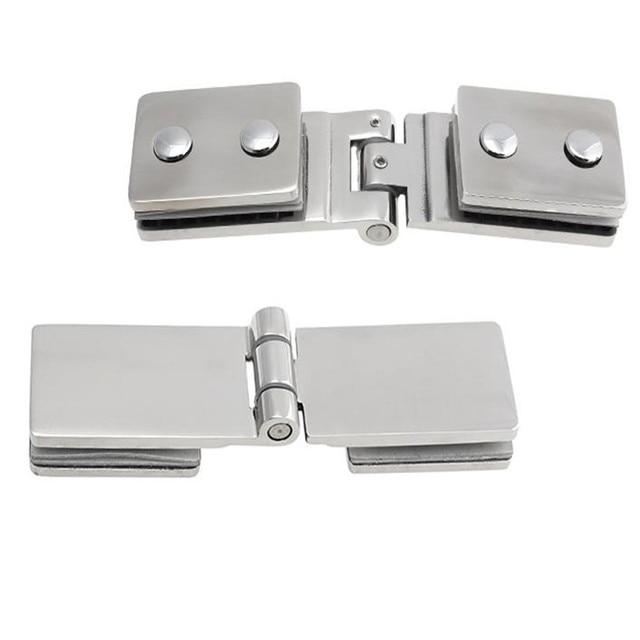 De calidad superior 180 grados de acero inoxidable 304 de montaje en pared Glass Door ducha bisagra