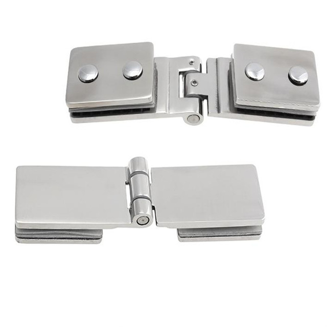 Top Quality 180 Degrees Stainless Steel 304 Wall Mount Glass Shower Door  Hinge