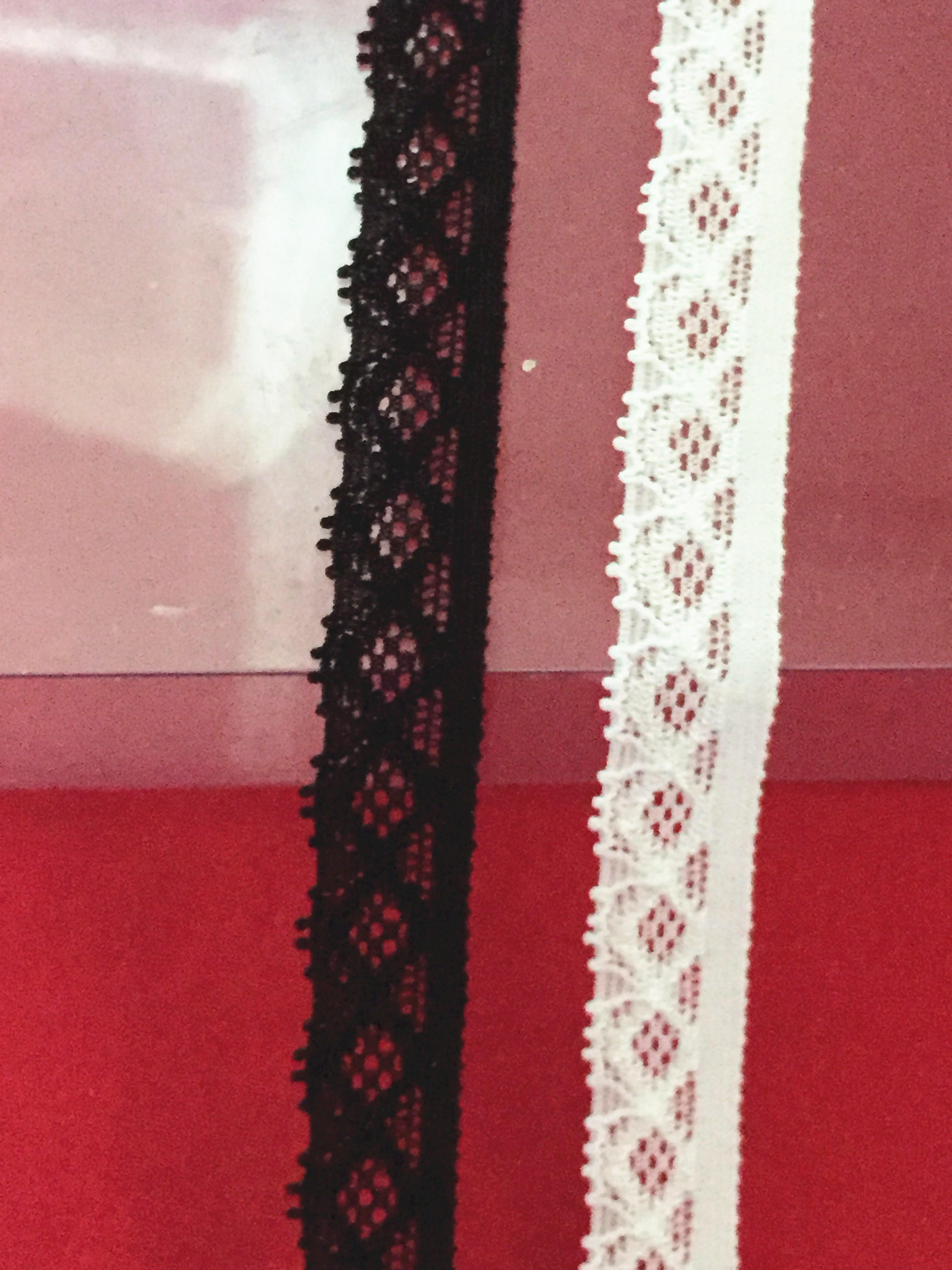 1cm width 90meters/lot ivory black color stretch lace trim elastic lace band high quality-in Lace from Home & Garden    1