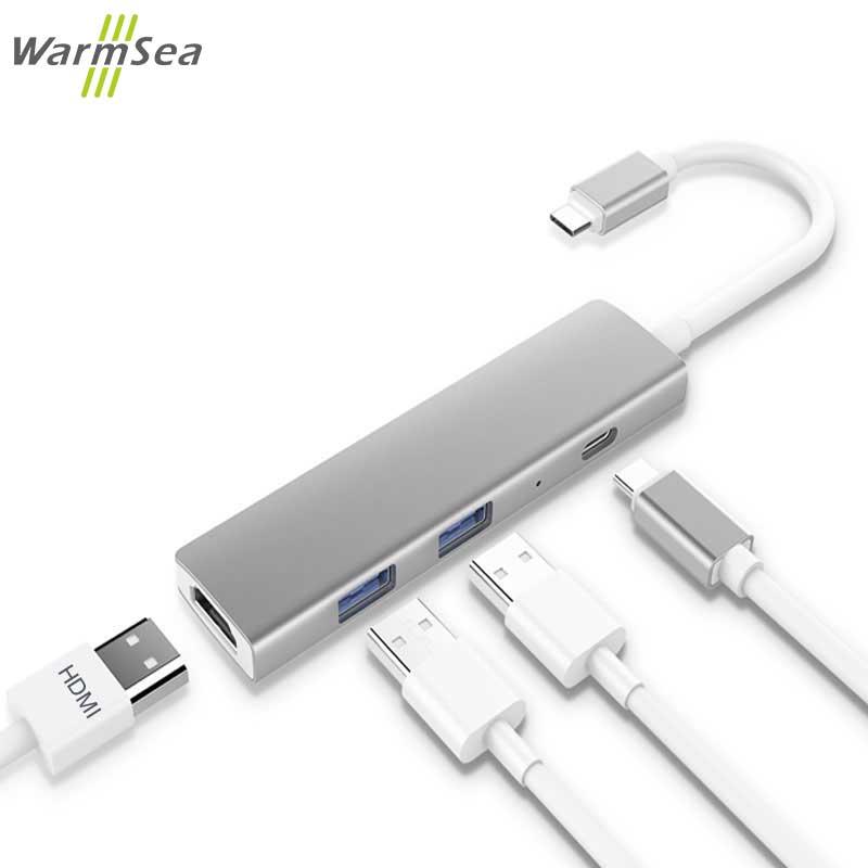 USB Type C Thunderbolt 3 Adapter USB C HUB Dock Dongle Cable