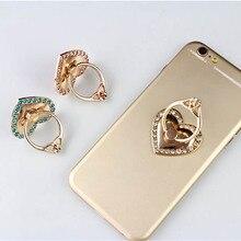 Love Heart 360 Degree Rotation Finger Mobile Phone Stand Holder for iPhone Samsung